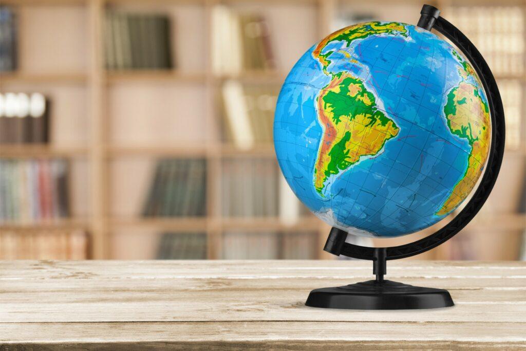Globe on table