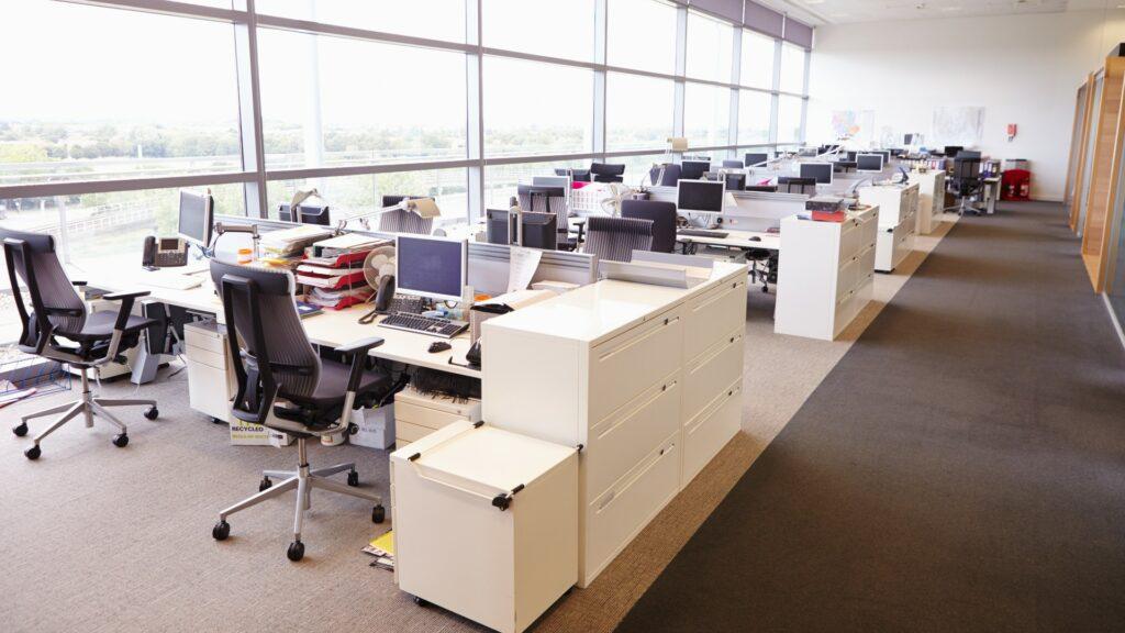 Empty office building